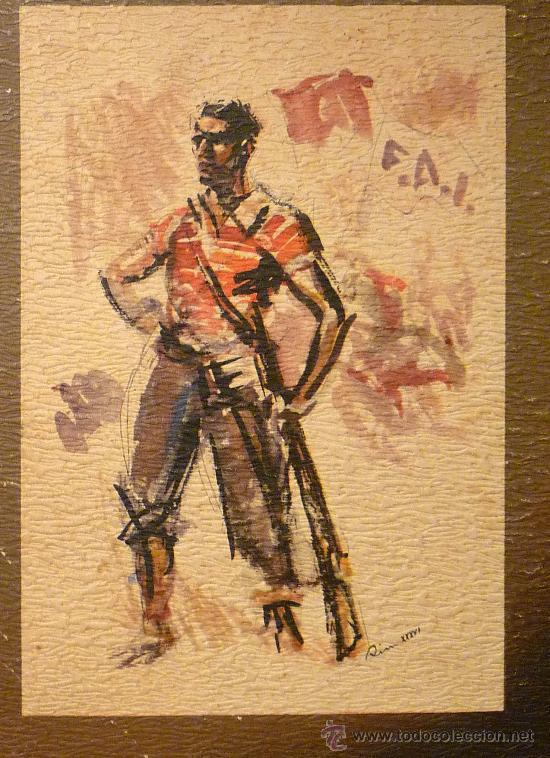 Militaria: CARTEL, ANUNCIO, ESTAMPAS DE LA REVOLUCION ESPAÑOLA DE 1936, CARTON, 27 X 65 CM - Foto 3 - 28400659