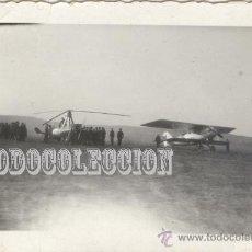 Militaria: AUTOGIRO DE LA CIERVA. FOTO ORIGINAL AÑOS 30. C-AC10 PEQUEÑA 6,5 X 4,5 CM CASA AVION HELICOPTERO. Lote 23439585