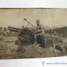 Militaria: FOTOGRAFÍA DE UN SOLDADO CON UN CAÑON - MANIOBRAS O GUERRA DE AFRICA. Lote 23514365