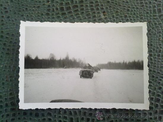 Militaria: FOTO ORIGINAL ,BLINDADO ALEMAN EN COLUMNA,IIWW - Foto 2 - 26289455