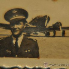 Militaria: AVIACION,FOTO DE TTE. PILOTO AÑOS 40. EJERCITO DEL AIRE. Lote 26360570