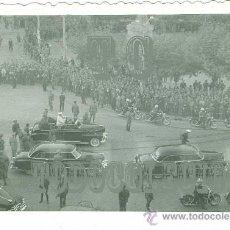Militaria: GENERAL FRANCO VISITA A ZARAGOZA AÑO 1967 ANTIGUA FOTOGRAFÍA ORIGINAL. GUARDIA CIVIL MOTORIZADA. Lote 24724548