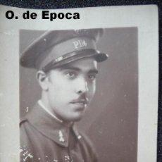 Militaria: (JX-306)FOTOGRAFIA DE ESTUDIO DE SOLDADO DE ARTILLERIA AÑOS 30,INICIALES EN EL GORRO PD4. Lote 24751103