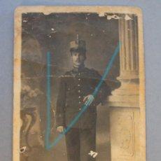 Militaria: 1 FOTOGRAFÍA DE SOLDADO INFANTERÍA - CREO QUE DE CAZADORES-EP. A. XIII,. Lote 27309224