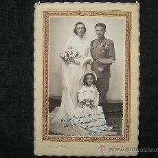 Militaria: FOTOGRAFIA BODA DE UN MILITAR FECHADA EN 1941 // FOTO GRANZMAN - SEVILLA. Lote 25710574