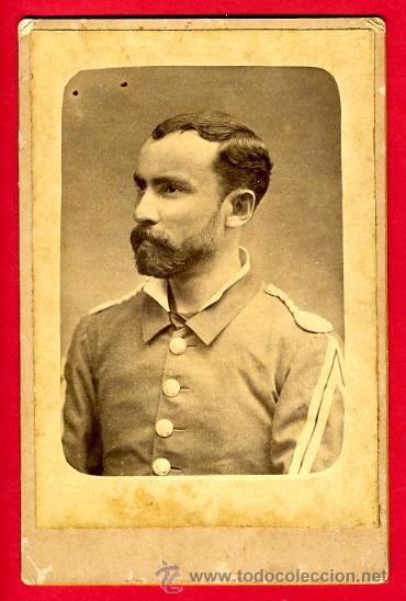 FOTOGRAFIA, FOTO MILITAR ESPAÑOL , GUERRA DE CUBA, 11 X 16 CMS. ALBUMINA ,ORIGINAL ANTIGUA, S (Militar - Fotografía Militar - Otros)