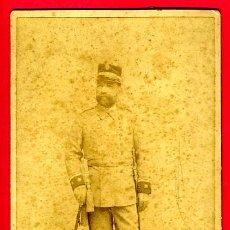Militaria: FOTOGRAFIA, FOTO MILITAR ESPAÑOL , GUERRA DE CUBA, 13 X 21 CMS. ALBUMINA ,ORIGINAL ANTIGUA, S. Lote 25856701