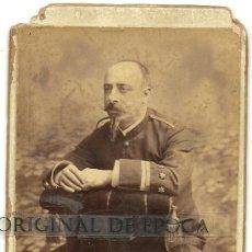 Militaria: (PE-4)FOTOGRAFIA ALBUMINA COLONIAL SIGLO XIX CAPITAN GUERRA DE FILIPINAS. Lote 25922966