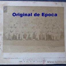 Militaria: (JX-314)FOTOGRAFIA ALBUMINA SIGLO XIX JEFES Y OFICIALES REGIMIENTO TARRAGONA CAMPAÑA DE CUBA. Lote 26029873