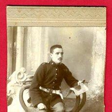 Militaria: FOTO MILITAR , ALBUMINA, RETRATO, ANTIGUA , B11. Lote 27525607