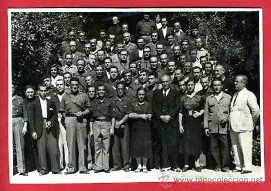FOTO GUERRA CIVIL , GRUPO FALANGE Y MUSULMANES , SEVILLA , ORIGINAL, B30 (Militar - Fotografía Militar - Guerra Civil Española)