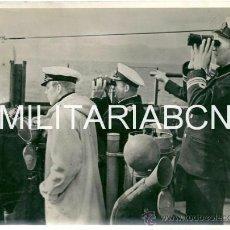 Militaria: REINO UNIDO. FOTOGRAFIA DE PRENSA ORIGINAL DE LA 2ª GUERRA MUNDIAL. A CAPTAIN AND SOME OF HIS OFFICE. Lote 26662273