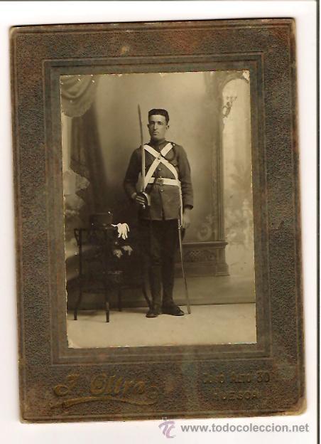 FOTOGRAFIA SOLDADO ALFONSINO REGIMIENTO Nº 15 (FOTO) (Militar - Fotografía Militar - Otros)