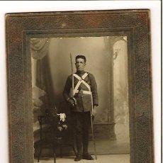 Militaria: FOTOGRAFIA SOLDADO ALFONSINO REGIMIENTO Nº 15 (FOTO). Lote 27099405