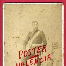 Militaria: FOTO MILITAR, ESPAÑOL CON SABLE , ALBUMINA, FOTO FLORENZZANO ZARAGOZA , ANTIGUA , ORIGINAL, 7. Lote 27126687
