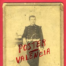 Militaria: FOTO MILITAR, ESPAÑOL CON SABLE , ALBUMINA, FOTO INDUSTRIAL CORUÑA , ANTIGUA , ORIGINAL, 8. Lote 27126733