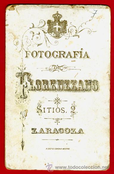 Militaria: FOTO MILITAR, ESPAÑOL CON SABLE , ALBUMINA, FOTO FLORENZZANO ZARAGOZA , ANTIGUA , ORIGINAL, 7 - Foto 2 - 27126687