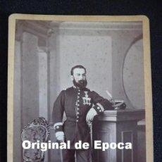Militaria: (JX-490)FOTOGRAFIA SIGLO XIX TENIENTE CORONEL CAMPAÑA DE CUBA FECHADA 29-1-1872. Lote 27173569