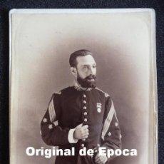 Militaria: (JX-491)FOTOGRAFIA SIGLO XIX DE CORONEL¿SANIDAD MILITAR?CAMPAÑA DE CUBA FECHADA EL 15-2-1879. Lote 27173733