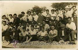 MILITARES GUERRA CIVIL.- SIMANCAS (VALLADOLID).- 1936 BATALLÓN DE VOLUNTARIOS EN UN ...... (Militar - Fotografía Militar - Guerra Civil Española)