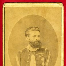 Militaria: FOTO MILITAR, ESPAÑOL , EN LA ISLA DE CUBA , B GUZMAN 1876 , ANTIGUA ,ALBUMINA , ORIGINAL,S. Lote 27649335