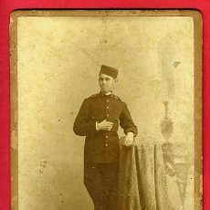 Militaria: FOTO MILITAR, ESPAÑOL 1894, ALBUMINA, FOTOGRAFIA COMPANY MADRID , ORIGINAL, C. Lote 27659870