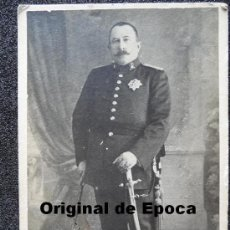 Militaria: (JX-670)FOTOGRAFIA DE GENERAL DE BRIGADA DEL BATALLON DE CAZADORES COLON Nº23. Lote 27910903