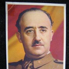 Militaria: ANTIGUA POSTAL DE FRANCISCO FRANCO GENERALISIMO AÑOS 40 VER FOTOS ES LA MISMA. Lote 27973586