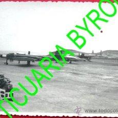 Militaria: FOTOGRAFÍA - AVION MILITAR - BASE AEREA DE GANDO - LAS PALMAS DE GRAN CANARIA. Lote 28405127
