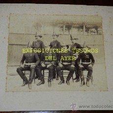 Militaria: ANTIGUA FOTOGRAFIA ALBUMINA DEL CUERPO DE BOMBEROS DEL COMERCIO Nº 1 EN LA HABANA, CUBA - INSTITUCIO. Lote 28423671
