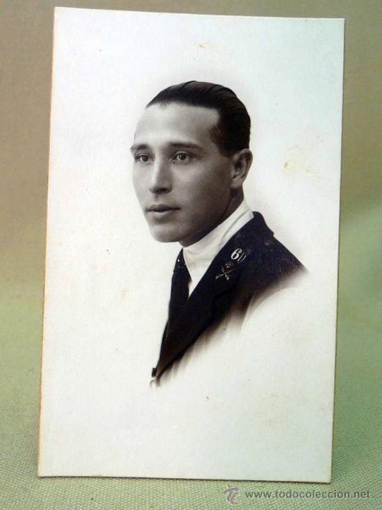 FOTOGRAFIA, FOTO POSTAL, MILITAR, RETRATO, 1924, ESTUDIO J. CALATAYUD, CEUTA-TETUAN (Militar - Fotografía Militar - I Guerra Mundial)