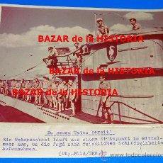 Militaria: RARA FOTO DE PRENSA ALEMANIA EN COLOR SOBRE PAPEL AGFA - SUBMARINOS UBOOT. Lote 29008109