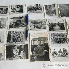 Militaria: LOTE DE 18 FOTOGRAFIAS DE UN SOLDADO DESTINADO EN AUTOMOVILISMO DE SANIDAD MILITAR. 1957 - 1958. Lote 29201093