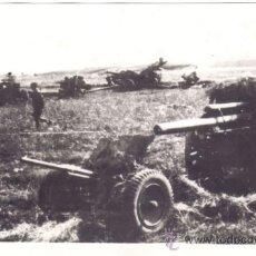 Militaria: FOTOGRAFIA DE GRAN FORMATO DE LA II GUERRA MUNDIAL ARMAMENTO ALEMAN CAPTURADO POR LOS RUSOS EN RZHEV. Lote 29102967