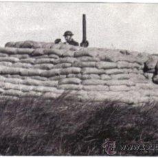 Militaria: FOTOGRAFIA DE LA II GUERRA MUNDIAL - CAÑON ANTIAEREO EN LAS COSTAS DE INGLATERRA . Lote 29218375