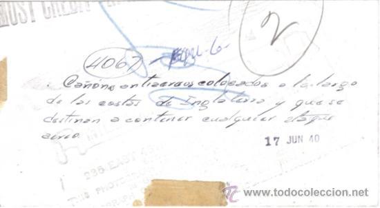 Militaria: FOTOGRAFIA DE LA II GUERRA MUNDIAL - CAÑON ANTIAEREO EN LAS COSTAS DE INGLATERRA - Foto 2 - 29218375