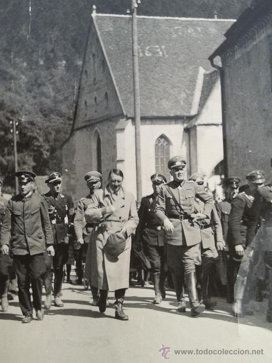 FOTO ORIGINAL ADOLF HITLER ,MARCAJE ALFA LUPEX (Militar - Fotografía Militar - II Guerra Mundial)