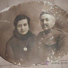 Militaria: GIGANTE FOTOGRAFIA MILITAR COLOREADA Y FIRMADA VIDAL Y 1918. 58 X 43. ESCRITA POR DETRAS.. Lote 29229807