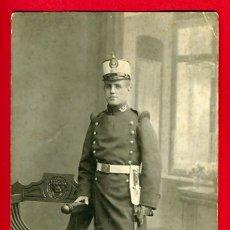 Militaria: FOTOGRAFIA MILITAR, FOTO , CON SABLE ,ORIGINAL , D5. Lote 29440450