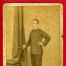 Militaria: FOTOGRAFIA MILITAR, CON SABLE CUELLO Nº 28 ALBUMINA , FOTO MARIN RAMON , ORIGINAL , D18. Lote 29440975