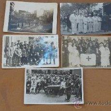 Militaria: LOTE DE 5 FOTOGRAFIAS FOTOPOSTALES DE CRUZ ROJA. MEDICOS CONDECORADOS. REPUBLICA, GUERRA CIVIL.. Lote 29557656