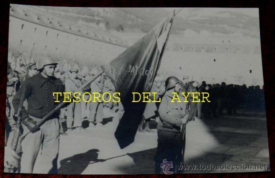 Militaria: Lote de 5 antiguas fotografias originales de las Brigadas Internacionales durante la Guerra Civil en - Foto 7 - 29759288