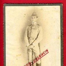 Militaria: FOTO MILITAR, ALBUMINA , CON SABLE 1916 , FOTOGRAFO DIAZ Y PIERRA CUBA , ORIGINAL, B38. Lote 29779098