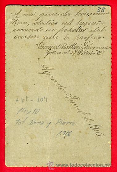 Militaria: FOTO MILITAR, ALBUMINA , CON SABLE 1916 , FOTOGRAFO DIAZ Y PIERRA CUBA , ORIGINAL, B38 - Foto 2 - 29779098