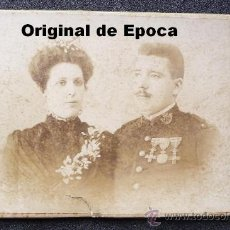 Militaria: (JX-15)FOTOGRAFIA DE OFICIAL REG.CAZADORES DE ALFONSO XII CONDECORAZADO REALIZADA EN MANRESA. Lote 29847309