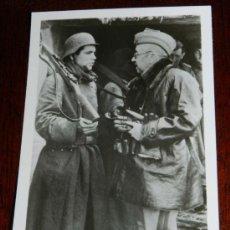 Militaria: ANTIGUA FOTOGRAFIA DE LA DIVISION AZUL, VOLUNTARIOS ESPAÑOLES EN RUSIA, EL GENERAL MOSCARDO - PK-BEC. Lote 29892539