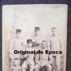 Militaria: (JX-17)FOTOGRAFIA DE CADETES DE INFANTERIA EPOCA ALFONSINA. Lote 29921867