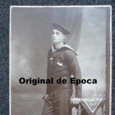 Militaria: (JX-52)FOTOGRAFIA DE MARINERO EPOCA ALFONSINA. Lote 30123442