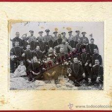 Militaria: FOTOGRAFIA MILITAR, GRUPO DE GUARDIAS CIVILES , GUARDIA CIVIL ,ORIGINAL, A1. Lote 30129103