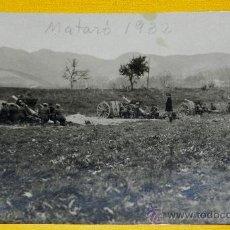 Militaria: ANTIGUA FOTOGRAFIA DEL REGIMIENTO OCTAVO LIGERO DE ARTILLERIA EN MATARO, 1932, MANIOBRAS EN PLENA II. Lote 30316253